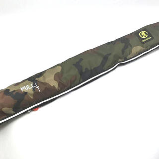 ライフジャケット 大人用 ベルトタイプ手動誇張式 緑迷彩 ウエスト巻き 釣り(ウエア)