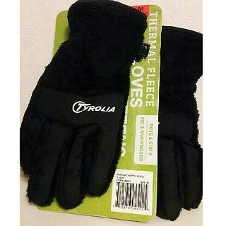チロリア(TYROLIA)のTYROLIA  子供用手袋   くろ(手袋)