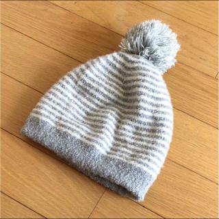 ムジルシリョウヒン(MUJI (無印良品))の無印良品 ふわふわ ボーダー ニット帽(帽子)