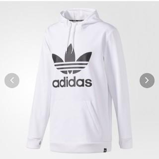アディダス(adidas)のアディダス白パーカー(パーカー)