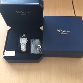 ショパール(Chopard)の美品 ショパール ハッピースポーツ ムーンスター スクエア ステンレス(腕時計)