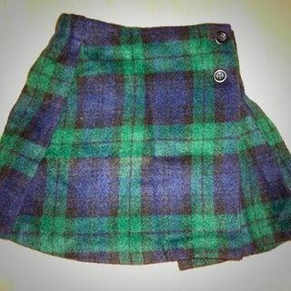 ブリーズ(BREEZE)のBREEZE ブリーズ シャギーチェック 巻きスカート 110サイズ(スカート)