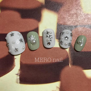(No. 82 スモーキー緑×星パール)
