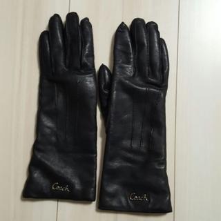 コーチ(COACH)の《COACH》100%レザー 100%カシミア 手袋(手袋)