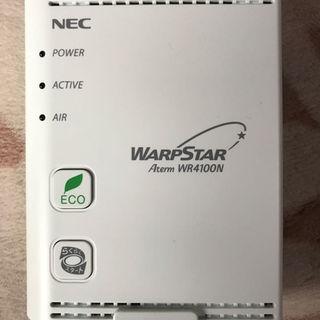 エヌイーシー(NEC)の無線LANルーター NEC WR4100N(PC周辺機器)