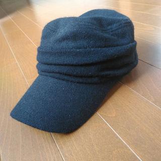 ムジルシリョウヒン(MUJI (無印良品))の無印良品☆秋冬用黒キャップ帽子(その他)