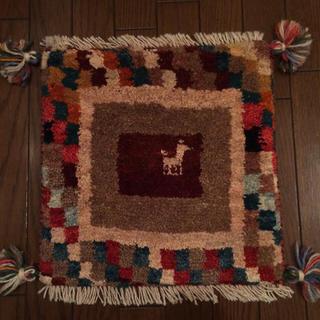 イデー(IDEE)のIDEE 手織り絨毯 ラグ 39×38㎝(ラグ)