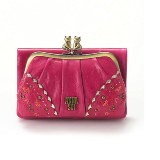 best service 7682e 8e41b ANNA SUI トークトゥーハー 猫 ピンク 外口金二つ折り財布 | フリマアプリ ラクマ