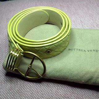 ボッテガヴェネタ(Bottega Veneta)のボッテガヴェネッタ Bottega Venneta ベルト80未使用新品黄色袋付(ベルト)