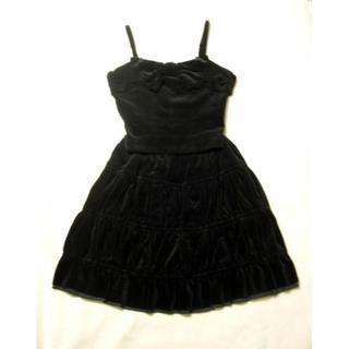 ジェーンマープル(JaneMarple)の別珍リボンビスチェ スカート ジェーンマープル JaneMarple 黒(セット/コーデ)