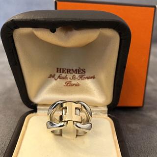 エルメス(Hermes)のエルメス シルバー925×18Kイエローゴールドコンビリング(リング(指輪))