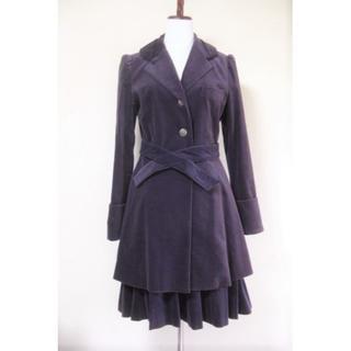 ジェーンマープル(JaneMarple)の別珍ジャケットコート プリーツスカート JaneMarple ジェーンマープル(セット/コーデ)