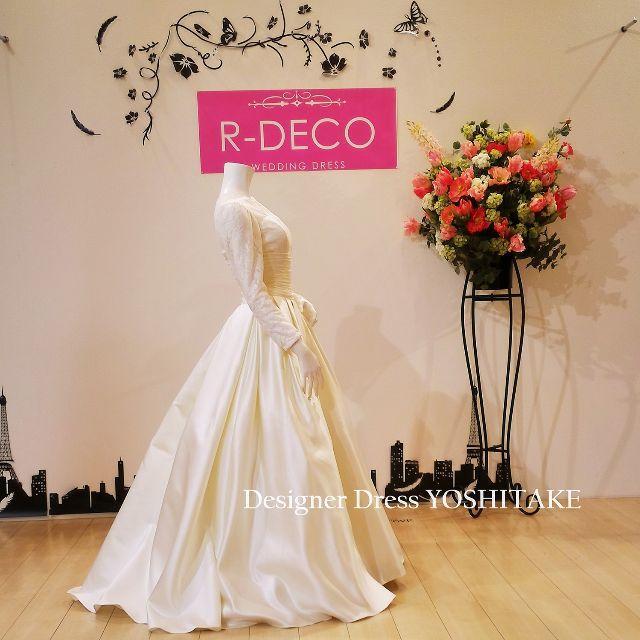 ウエディングドレス ライトイエローカラードレス 披露宴 レディースのフォーマル/ドレス(ウェディングドレス)の商品写真