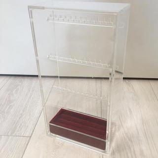 ムジルシリョウヒン(MUJI (無印良品))の無印良品 ネックレス ピアス スタンド ベロア内箱仕切 リング用 ケース (小物入れ)