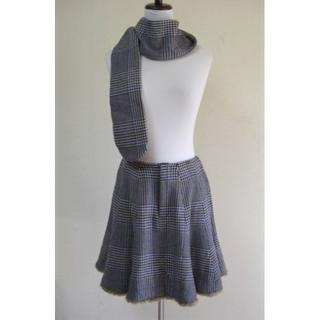 ジェーンマープル(JaneMarple)の千鳥格子スカートパンツ手袋 JaneMarple ジェーンマープル ネイビー(セット/コーデ)