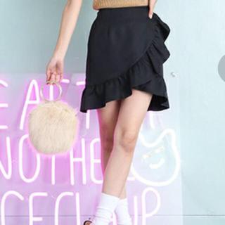 ワンアフターアナザーナイスクラップ(one after another NICE CLAUP)のラッフルデザインスカート(ミニスカート)
