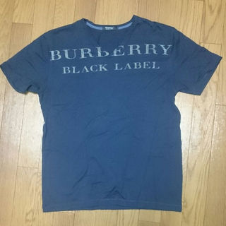 バーバリーブラックレーベル(BURBERRY BLACK LABEL)の美品 BURBERRY BLACK LABEL Tシャツ Vネック ネイビー(その他)