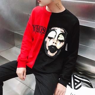 アンドバイピーアンドディー(&byP&D)の送料無料 ピエロ 長袖Tシャツ 赤 サイズM~XL選べます♪(Tシャツ/カットソー(七分/長袖))