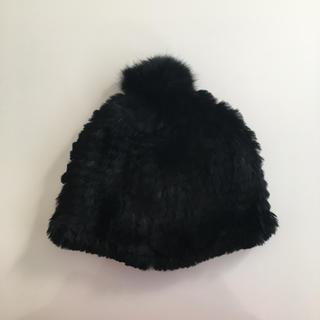 オルタナティブバージョンダブルアール(alternative version WR)のラビットファー 帽子 NABRO社製 キャップ ビーニー(ニット帽/ビーニー)