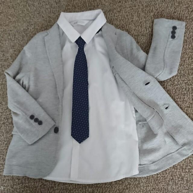 729e5a4f2e6bc H M - 入園 卒園 入学式 卒業式 キッズ 服 スーツ 3点セット 男の子 ...