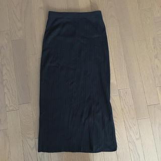 フレイアイディー(FRAY I.D)のFRAY I.D リブニットスカート 美品(ロングスカート)
