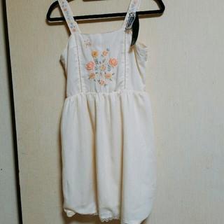 ダブルクローゼット(w closet)の(*˙˘˙*)❥❥新品タグ付き 刺繍ワンピース(ミニワンピース)