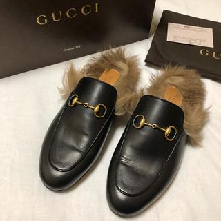 グッチ(Gucci)のGUCCI グッチ プリンスタウン レザーファースリッパ 36.5(ローファー/革靴)