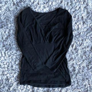 ベルメゾン(ベルメゾン)のHotcott Vネックインナー8分袖 授乳にも便利(アンダーシャツ/防寒インナー)