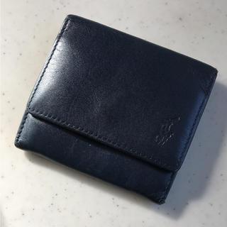 ラルフローレン(Ralph Lauren)のポロ ラルフローレン 手のひらサイズの皮革 コインケース ネイビー(コインケース)