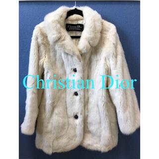 クリスチャンディオール(Christian Dior)のChristian Dior/ミンクファーコート/ホワイト(毛皮/ファーコート)