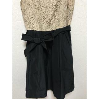 アンリミテッドスィフル(UNLIMITEDSIFR)のドレス ベージュ、ブラック パーティ 値下げしました✨(ミディアムドレス)
