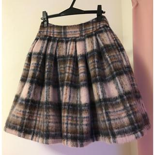 mille bonheur♡シャギーフレアチェックスカート(ひざ丈スカート)