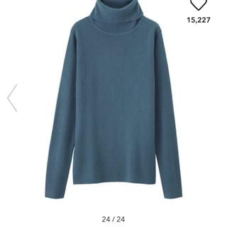 ジーユー(GU)のGU ジーユー リブタートルネックセーター(長袖)(ニット/セーター)