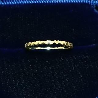 アーカー(AHKAH)のk18 AHKAH アンハートエタニティリング(リング(指輪))
