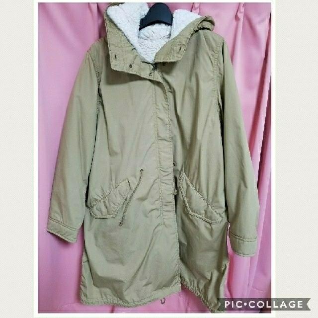 UNIQLO(ユニクロ)のUNIQLO 裏ボアモッズコート レディースのジャケット/アウター(モッズコート)の商品写真