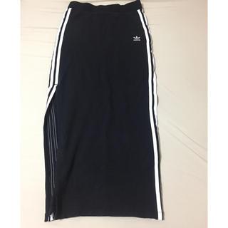 アディダス(adidas)のアディダス adidas ラインスカート マキシスカート (ロングスカート)