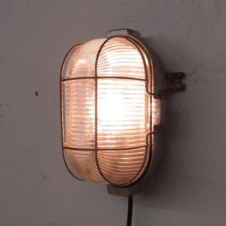 ビンテージカプセルライト クリアガラス/ランプ照明インダストリアルアトリエ(天井照明)