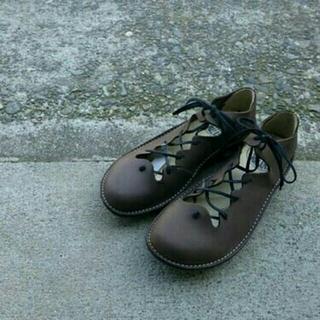 トリッペン(trippen)のお値下げ!ロインツ♡レースアップシューズ黒(ローファー/革靴)
