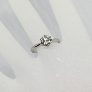 pt900 ダイヤモンド リング 1ct 11号 指輪 一粒石 鑑定書付き(リング(指輪))