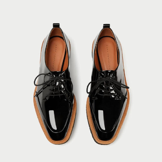 ザラ(ZARA)の完売品 ザラ 新品 プラットフォーム ブルーチャー シューズ パンツ ブーツ(ローファー/革靴)
