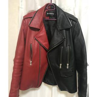 シュプリーム(Supreme)のMISBHV 赤黒ライダース(ライダースジャケット)