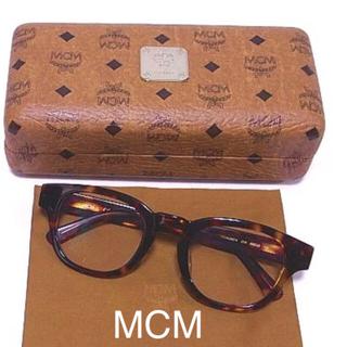 エムシーエム(MCM)のぽんぽん様専用 MCM 眼鏡 メガネ 茶色 セル べっ甲 ケース ロゴ 美品(サングラス/メガネ)