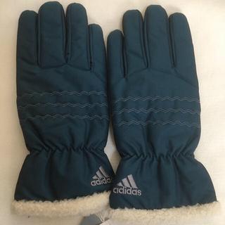 アディダス(adidas)のADIDAS アディダス 中綿手袋 ブルー お洒落 激安 新品!(手袋)