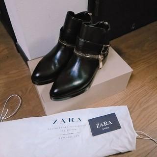 ザラ(ZARA)の新品/ZARA/ショートブーツ/ZARAブーツ/牛革(ブーツ)