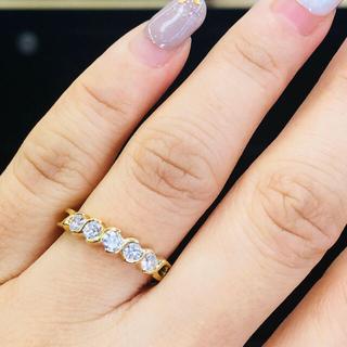 ティファニー(Tiffany & Co.)の美品❣️ティファニー 5🅿️ダイヤ 💍リング(リング(指輪))