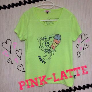 ピンクラテ(PINK-latte)の 【SALE】雑誌掲載ネオンキャラT(カットソー(半袖/袖なし))