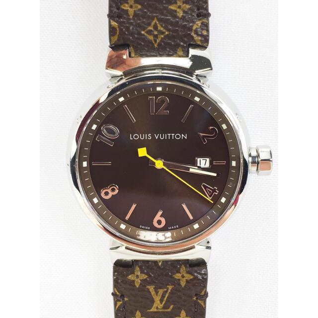 a1b834a45486 LOUIS VUITTON(ルイヴィトン)のルイ・ヴィトン Q1111 タンブール QZ 腕時計 メンズ 【