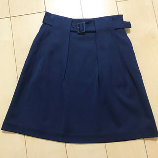 デミルクスビームス(Demi-Luxe BEAMS)の【Demi-Luxs BEAMS 】 タイトスカート 青 (ひざ丈スカート)
