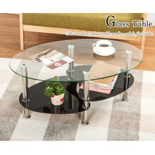 センターテーブル ガラス天板 高級カフェ気分 おしゃれ リッチなガラステーブル(ローテーブル)