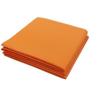 【訳あり】ヨガマット折りたたみ コンパクト 収納 ストレッチ オレンジ(ヨガ)